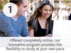 Offered completely online, this innovative degree provides the flexibility to study at your own pace.