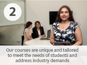 Our courses are unique and tailored to meet the needs of industry and students alike.